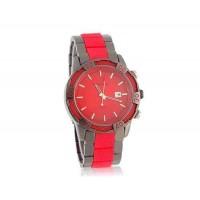 GEMAX 6178 Круглый циферблат Вольфрам стальной ленты часы (красный)