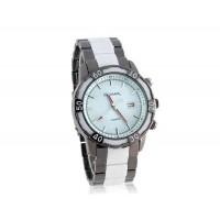 GEMAX 6178 Круглый циферблат Вольфрам стальной ленты часы (белый)