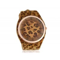 WoMaGe А35 женские Аналоговые часы с Leopard кожи шаблон ремешок (коричневый)