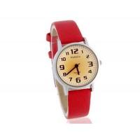 WoMaGe 139-7 Женская Аналоговые часы с PU кожаный ремешок (красный)