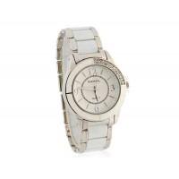 GEMAX 6206 Женские Круглый циферблат Кварцевые часы с алмазами часы (белый)