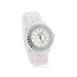 SINOBI  Кварцевые часы с керамическим ремешком (белый)