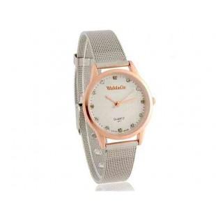 WoMaGe 471 Водонепроницаемость Стильные аналоговые часы с Сплав ремень S (золото)
