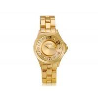 Sinobi 9441 Женские стильный часы с кварцевым механизмом (Золото)