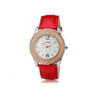 SINOBI 9455 Женские аналоговые часы Red Gold (Красное золото)