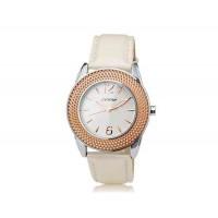 SINOBI 9455 Женские аналоговые часы (Белое золото)