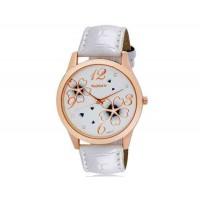 Womage 9965-3 Женская Аналоговые часы с Faux кожаный ремешок (белый) М.