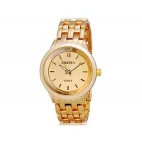 Kingsky 8812G мужской Кварцевые Аналоговые часы с нержавеющая сталь Ремешок (золото) М.