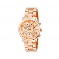 Kingsky 8803 Женская Круглый Аналоговые часы с нержавеющей стальной ремень (Rose Gold) М.