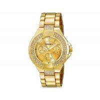 Kingsky 8807 Женская Кристалл Награжден Круглый Аналоговые часы с нержавеющей стальной лентой (Gold) М.