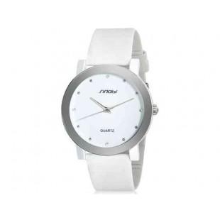 Sinobi 981 кварцевые часы унисекс ( белый)