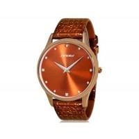 SINOBI 9141  женские наручные кварцевые часы (коричневый)
