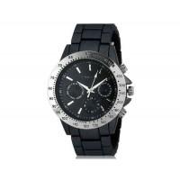 Kingsky 8843 Женская Круглый Кварцевые часы с Аллой ремешок (черный) М.