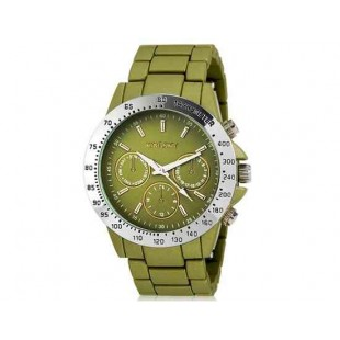 Kingsky 8843 Женская Круглый Кварцевые часы с Аллой ремешком (зеленый) М.