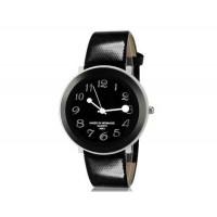 Womage 9662 Женская Стильный Аналоговые часы с Faux кожаный ремешок (черный) М.