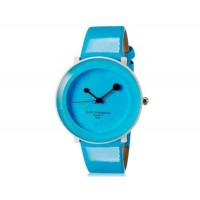 WoMaGe 9662 Женская стильная Аналоговые часы с искусственного кожаный ремешок (синий) М.