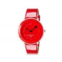 WoMaGe 9662 женщин Стильный Аналоговые часы с Faux кожаный ремешок (красный) М.