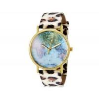 Купить Womage 1089 Женская Круглый Аналоговые часы с Карта Распечатать Наберите & искусственной кожи Leopard Print ремешок М.