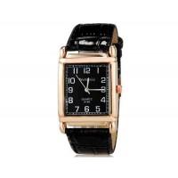 WoMaGe кварца 8189 Женская модные Аналоговые часы с PU ремешок (черный) М.