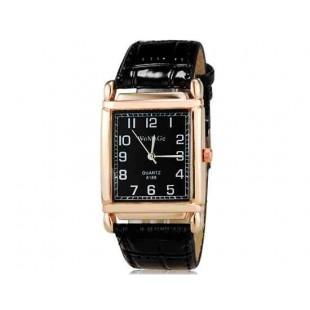 WoMaGe кварца 8189 Женская модная Аналоговые часы с PU ремешок (черный) М.