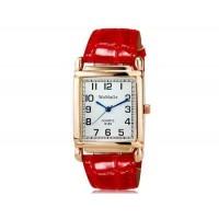 WoMaGe кварц 8189 Женская модные Аналоговые часы с PU ремешок (красный) М.