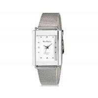 WoMaGe 9366 Женская модные Chic Тонкий прямоугольник Дело Стиль Аналоговый кварцевые наручные часы с Аллой ремешок (белый) М.