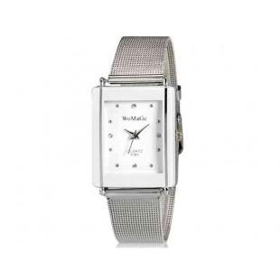 WoMaGe 9366 Женская модная Chic Тонкий прямоугольник Дело Стиль Аналоговый кварцевые наручные часы с Аллой ремешок (белый) М.