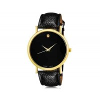 WoMaGe 1089 Женская модные Аналоговый кварцевые наручные часы с искусственной кожаный ремешок (черный)