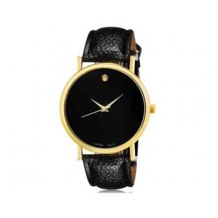 WoMaGe 1089 Женская модная Аналоговый кварцевые наручные часы с искусственной кожаный ремешок (черный)