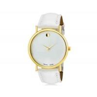WoMaGe 1089 Женская модные Аналоговый кварцевые наручные часы с искусственной кожаный ремешок (белый)