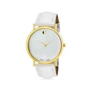 WoMaGe 1089 Женская модная Аналоговый кварцевые наручные часы с искусственной кожаный ремешок (белый)