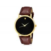 WoMaGe 1089 Женская модные Аналоговый кварцевые наручные часы с искусственной кожаный ремешок (коричневый)