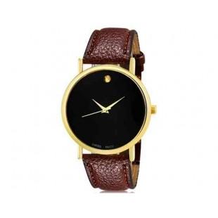 WoMaGe 1089 Женская модная Аналоговый кварцевые наручные часы с искусственной кожаный ремешок (коричневый)