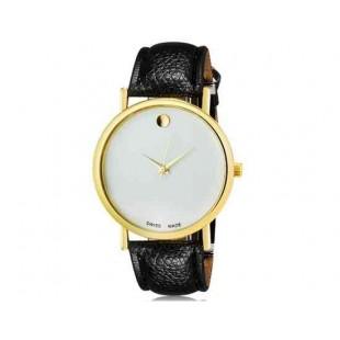 WoMaGe 1089 Женская модная Нет-цифровые весы аналоговые кварцевые наручные часы с искусственной кожаный ремешок (черный)