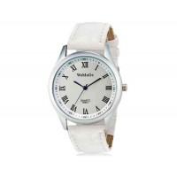 WoMaGe 9595-1 Женские Аналоговые кварцевые наручные часы с римскими цифрами и искусственной кожаный ремешок (белый)