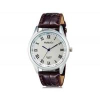 WoMaGe 9595-1 Женские Аналоговые кварцевые наручные часы с римскими цифрами и искусственной кожаный ремешок (темно-коричневый)