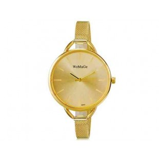 WoMaGe 9940 женщин Стильный аналоговые наручные часы с Золотой Металлическая лента (Золотой)