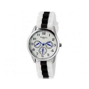 WoMaGe 9620 Женская модная Ретро стиль аналоговые наручные часы с силиконовой лентой (черный)