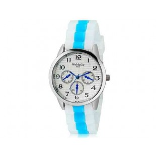 WoMaGe 9620 Женская модная Ретро стиль аналоговые наручные часы с силиконовой лентой (синий)