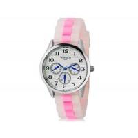 WoMaGe 9620 Женская модные Ретро стиль аналоговые наручные часы с силиконовой лентой (розовый)