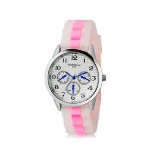 WoMaGe 9620 Женская модная Ретро стиль аналоговые наручные часы с силиконовой лентой (розовый)