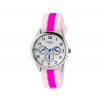 WoMaGe 9620 Женская модные Ретро стиль аналоговые наручные часы с силиконовой лентой (Rose Red)
