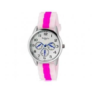 WoMaGe 9620 Женская модная Ретро стиль аналоговые наручные часы с силиконовой лентой (Rose Red)