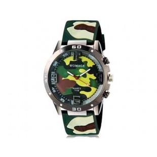 WoMaGe 1118 Unisex  Камуфляж  спортивные часы  (зеленый)