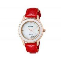 SINOBI 8119 женские наручные часы с кварцевым механизмом (красный)