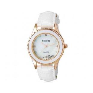 SINOBI 8119 женские наручные часы с кварцевым механизмом (white)