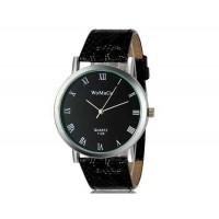 WoMaGe 1128 модные женская Аналоговый кварцевые наручные часы с римские цифры шкалы (черный)