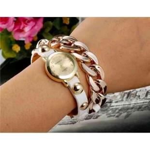 WoMaGe 1113 женщин круглый циферблат аналогового кварцевые часы браслет (белый)
