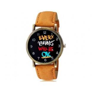 WoMaGe 1128 Женская и студента Модные аналоговые наручные часы (коричневый)