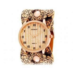 WOMAGE 9965-4 женщин`s аналоговые наручные часы с римскими цифрами, Ретро-Группа